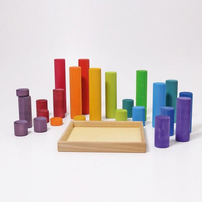 Large Building Rollers Rainbow - TREEHOUSE kid and craft
