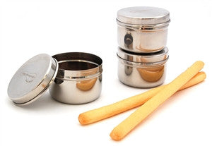Stainless Steel Mini Food Containers - Set of 3