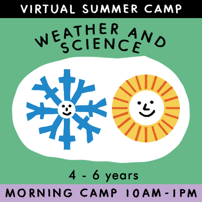 Weather and Science - Virtual Summer Camp 2021 - TREEHOUSE kid and craft