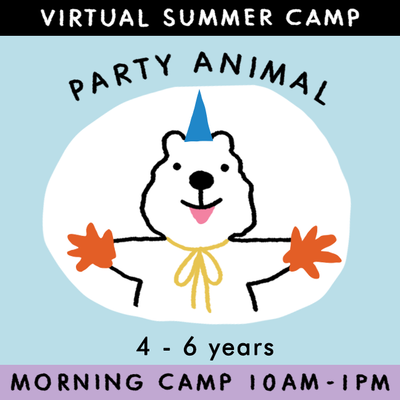 Party Animal - Virtual Summer Camp 2021 - TREEHOUSE kid and craft