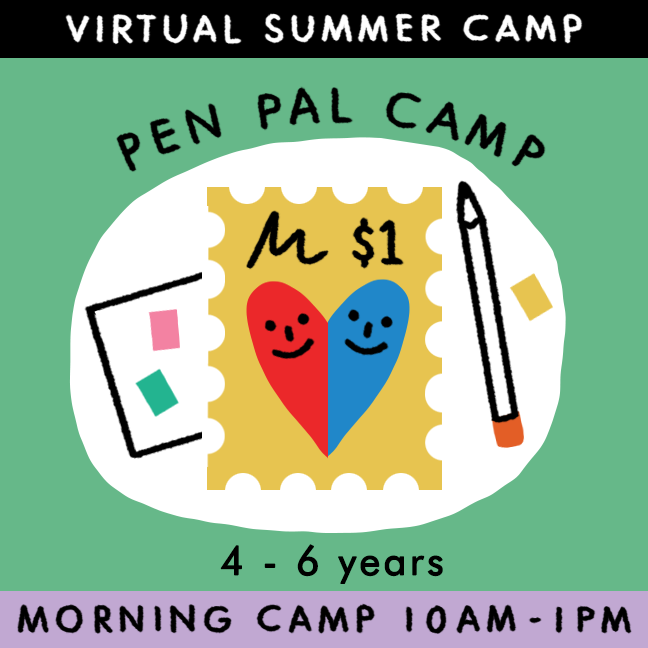 Pen Pal Camp - Virtual Summer Camp 2021 - TREEHOUSE kid and craft