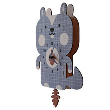 Load image into Gallery viewer, Squirrel Pendulum Clock