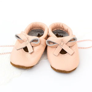Peach Baby Ballet Flats - TREEHOUSE kid and craft