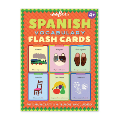 Spanish Flash Cards - TREEHOUSE kid and craft