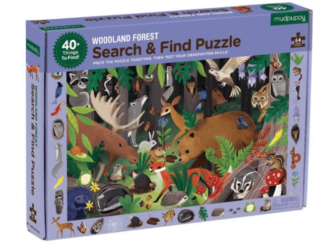 Woodland Forest Search and Find Puzzle - TREEHOUSE kid and craft