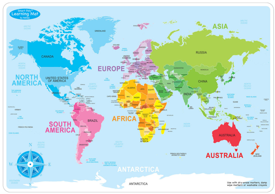 World Map Basic Learning map