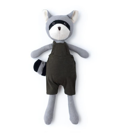 Max Raccoon in Picnic Overalls - TREEHOUSE kid and craft