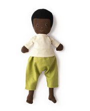 Load image into Gallery viewer, William Doll in Moss Pants and Natural Shirt - TREEHOUSE kid and craft