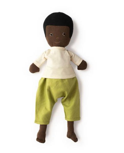 William Doll in Moss Pants and Natural Shirt