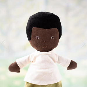 William Doll in Moss Pants and Natural Shirt - TREEHOUSE kid and craft