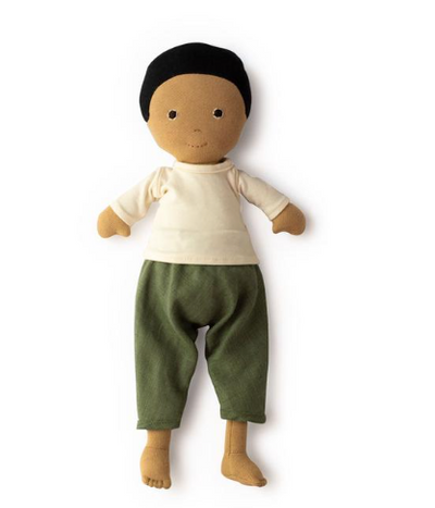 Jules Doll in Cedar Pants and Natural Shirt - TREEHOUSE kid and craft