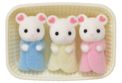 Marshmallow Mouse Triplets - TREEHOUSE kid and craft