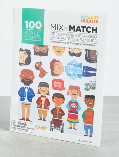 My Family Mix and Match Stickers - TREEHOUSE kid and craft