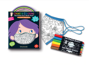 Creative Coloring Face Mask with Markers - TREEHOUSE kid and craft