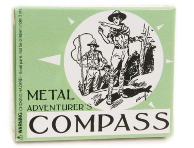 JUNIOR ADVENTURER'S METAL COMPASS - TREEHOUSE kid and craft