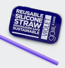 Load image into Gallery viewer, Extra Long Reusable Silicone Straw - TREEHOUSE kid and craft