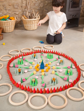 Load image into Gallery viewer, Mandala Little Green Cones - TREEHOUSE kid and craft