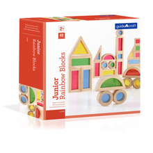 Load image into Gallery viewer, Guidecraft Junior Rainbow Blocks (40 pieces) - TREEHOUSE kid and craft