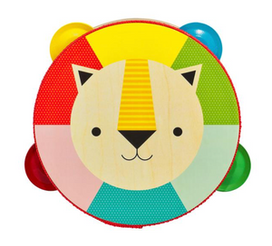 Kaleidoscope Lion Wooden Tambourine - TREEHOUSE kid and craft