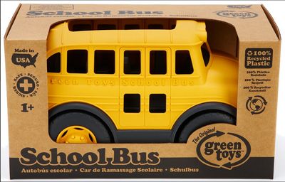 School Bus Green Toys - TREEHOUSE kid and craft
