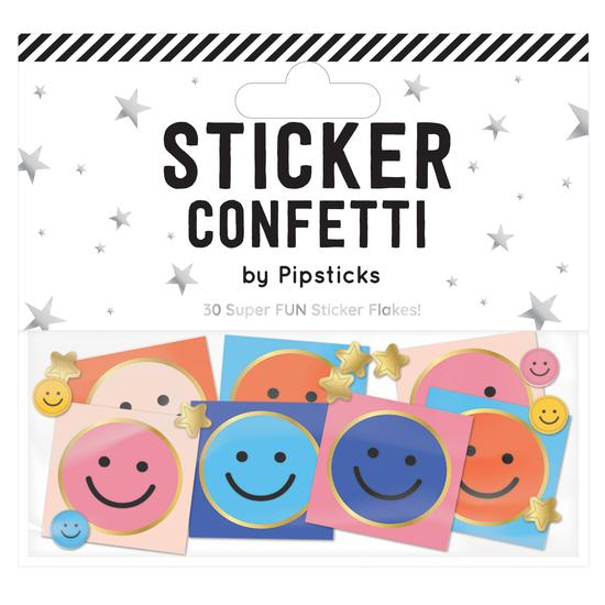 Smiley Face Sticker Confetti - TREEHOUSE kid and craft