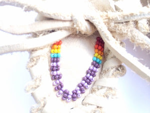 Rainbow Beaded Baby Moccasins - TREEHOUSE kid and craft