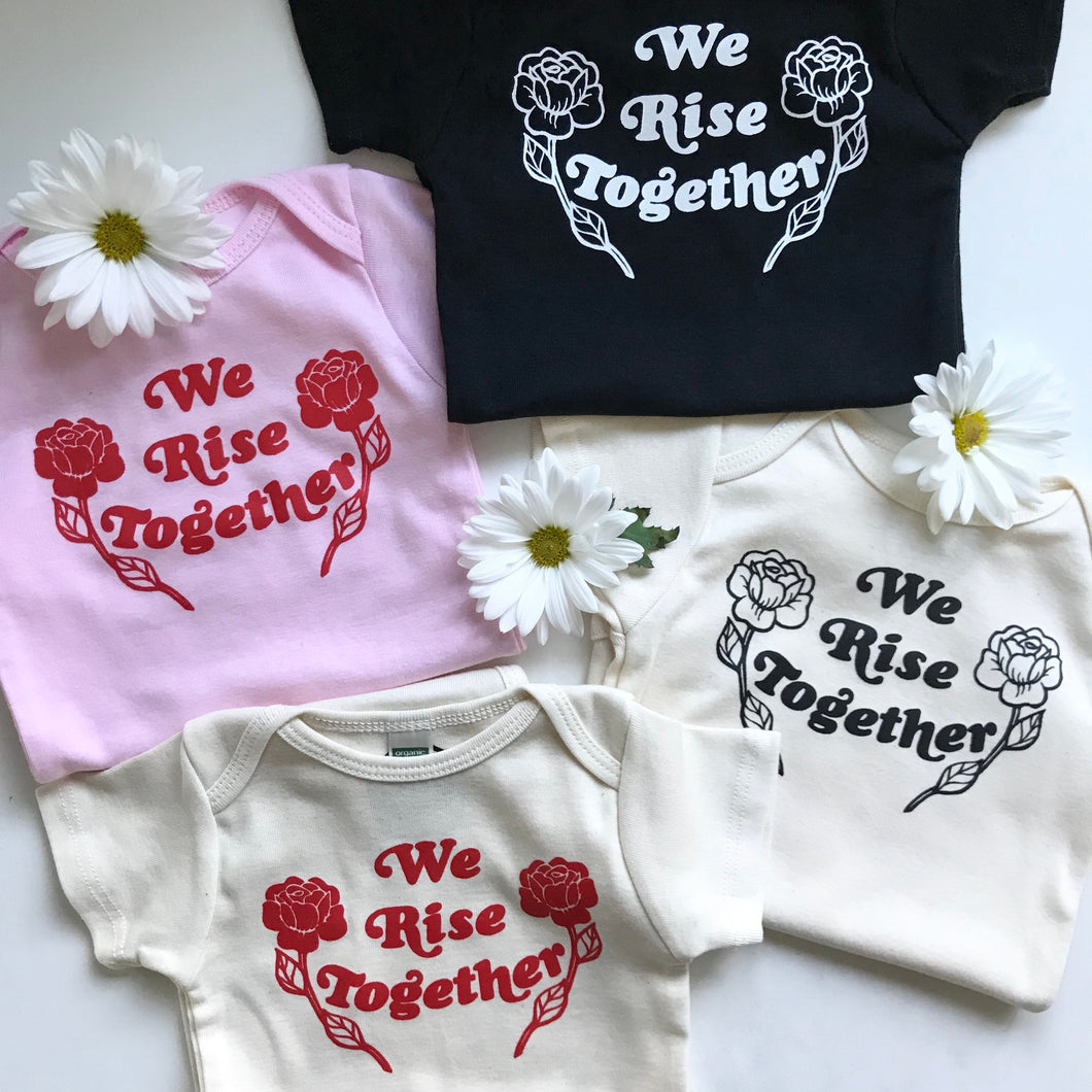 We Rise Together Onesie - TREEHOUSE kid and craft
