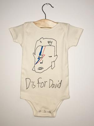 D is for David Onesie - TREEHOUSE kid and craft