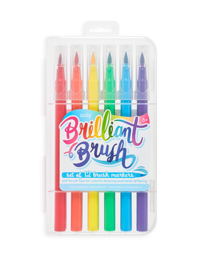 Brilliant Brush 12 Count Markers