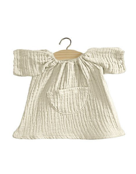 Jeanne Cotton Double Gauze Dress - Ecru - TREEHOUSE kid and craft