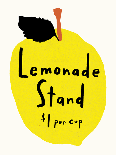 Paper Ghost Press - Lemonade Stand - Art Print - TREEHOUSE kid and craft