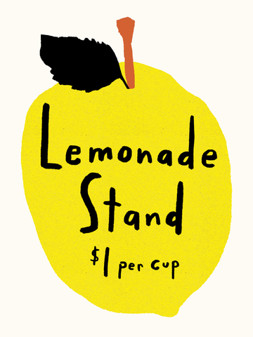 Paper Ghost Press - Lemonade Stand - Art Print