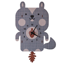 Load image into Gallery viewer, Squirrel Pendulum Clock - TREEHOUSE kid and craft