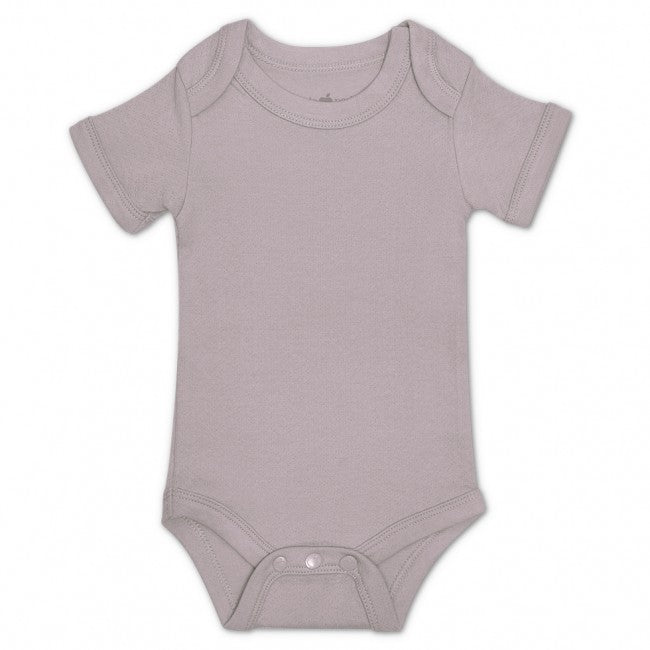 Essential Organic Onesie - Grey Pointelle - TREEHOUSE kid and craft