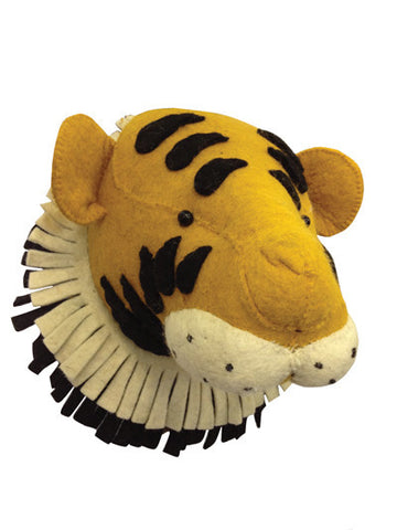 Large Wool Tiger Head