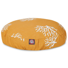 Load image into Gallery viewer, YELLOW CORAL SMALL ROUND DOG BED
