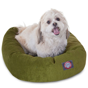 24-INCH FERN VILLA COLLECTION MICRO-VELVET SMALL BAGEL BED