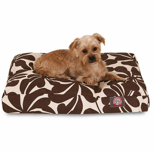 CHOCOLATE PLANTATION SMALL RECTANGLE DOG BED