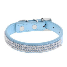Load image into Gallery viewer, Rhinestone Soft Leather Pet Collar