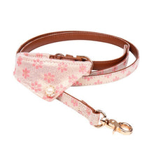 Load image into Gallery viewer, Dog PU Traction Rope Collar and Leash Set Adjustable Buckled Harness