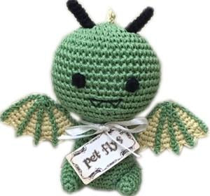 Knit Knacks Drogo the Dragon Organic Cotton Small Dog Toy