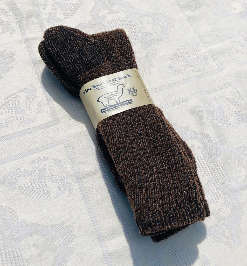 Alpaca Survival Socks - Heavy Thick Warm