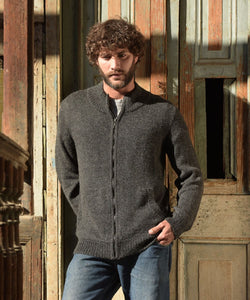Alpaca Full Zip Cardigan Sweater