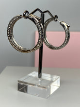 Load image into Gallery viewer, Sterling Silver Hoop & CZ Earrings