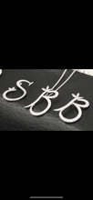 Load image into Gallery viewer, Sterling Silver & Full CZ Initial