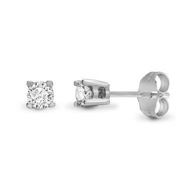 9ct Diamond Earrings (0.10ct-