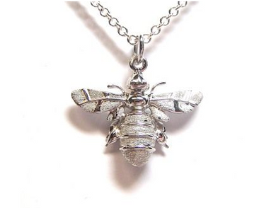 Solid Sterling Silver MiniBee Pendant