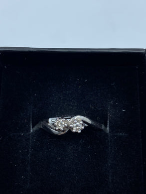 9ct White Gold & Diamond 0.14ct - HJ031