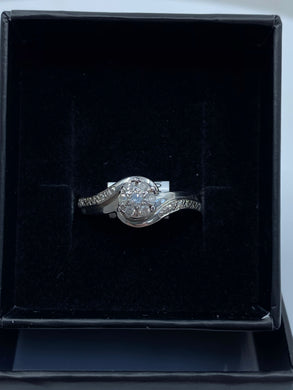 9ct White Gold & Diamond - HJ002