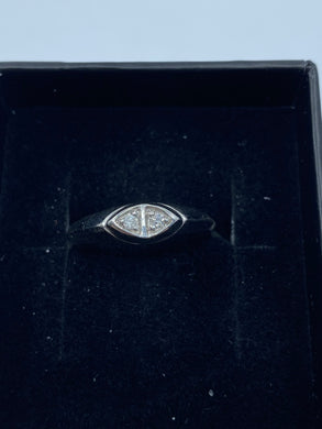 9ct White Gold & Diamond - HJ014